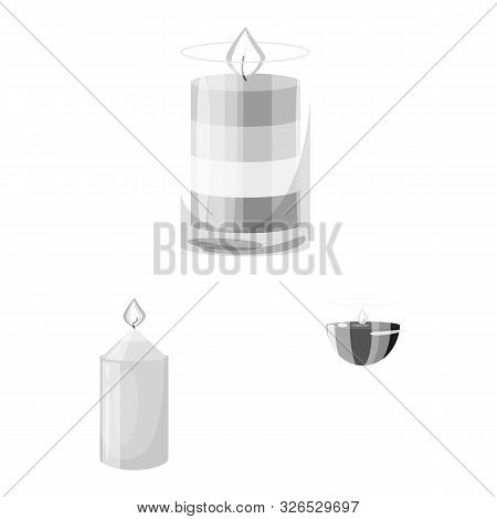 Vector Design Of Paraffin And Fire Sign. Collection Of Paraffin And Decoration Stock Vector Illustra