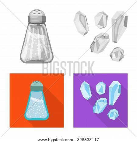 Isolated Object Of Cooking And Sea Sign. Set Of Cooking And Baking Stock Vector Illustration.