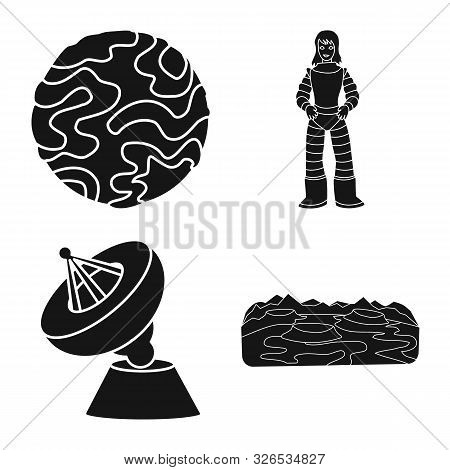 Isolated Object Of Colonization And Sky Icon. Collection Of Colonization And Galaxy Stock Vector Ill