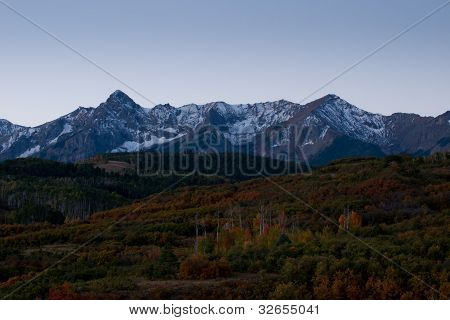 The Dallas Divide is a Colorado icon well known for its vivid fall colors produced by scrub oak and aspens. poster