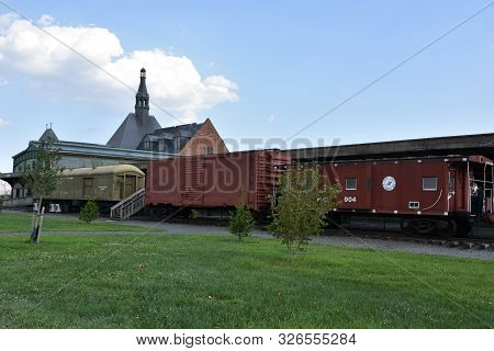 Jersey City, Nj - Aug 4:the Central Railroad Of New Jersey Terminal At Liberty State Park In Jersey