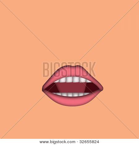 Open Feminine Mouth