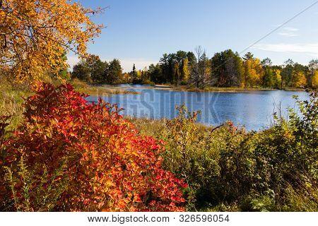Seney National Wildlife Refuge. Autumn At The Seney National Wildlife Refuge In The Upper Peninsula
