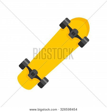 Freestyle Skateboard Icon. Flat Illustration Of Freestyle Skateboard Vector Icon For Web Design