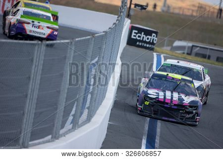 September 29, 2019 - Concord, North Carolina, USA: Jimmie Johnson (48) battles for position for the Bank of America ROVAL 400 at Charlotte Motor Speedway in Concord, North Carolina.