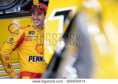 September 28, 2019 - Concord, North Carolina, USA: Joey Logano (22) gets ready to practice for the Bank of America ROVAL 400 at Charlotte Motor Speedway in Concord, North Carolina.