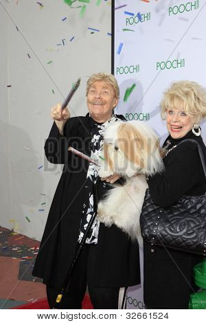 LOS ANGELES, CA - MAY 3: Rip Taylor, guest at the opening of the Pooch Hotel on May 3, 2012 in Hollywood, Los Angeles, CA. The Pooch Hotel is billed as a luxury hotel and daycare exclusively for dogs.