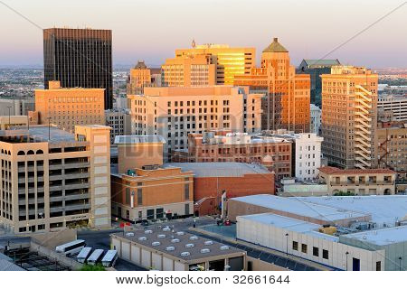 El Paso Texas Skyline at Golden Hour