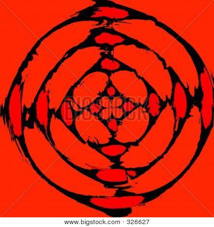 Abstract Bio Hazard Art Symbol