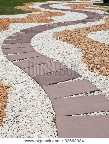 Stein Weg im Garten
