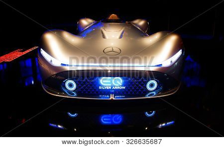 FRANKFURT, GERMANY - SEP 19, 2019: Mercedes Benz sport car. sports car unveiled at the Frankfurt IAA Motor Show 2019. - Image