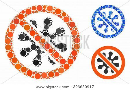 Antivirus Composition For Antivirus Icon Of Small Circles In Different Sizes And Color Hues. Vector