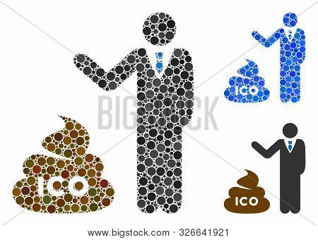Businessman Show Ico Shit Mosaic For Businessman Show Ico Shit Icon Of Spheric Dots In Variable Size