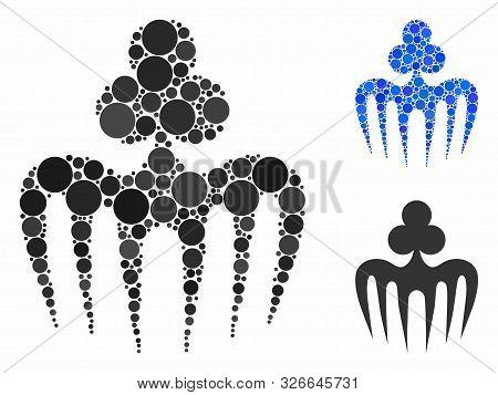 Gambling Spectre Monster Composition For Gambling Spectre Monster Icon Of Round Dots In Variable Siz