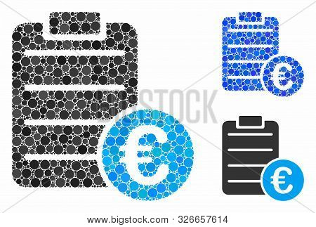 Euro Pad Composition For Euro Pad Icon Of Filled Circles In Different Sizes And Color Tinges. Vector