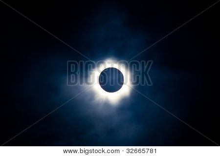 Total solar eclipse with visible corona