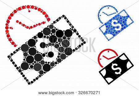 Rent Recurring Payment Mosaic For Rent Recurring Payment Icon Of Filled Circles In Variable Sizes An