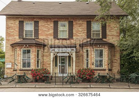 Greater Toronto, Canada ,aug 2013- An Old Country Inn With Restaurant In The Historic Village Of Uni
