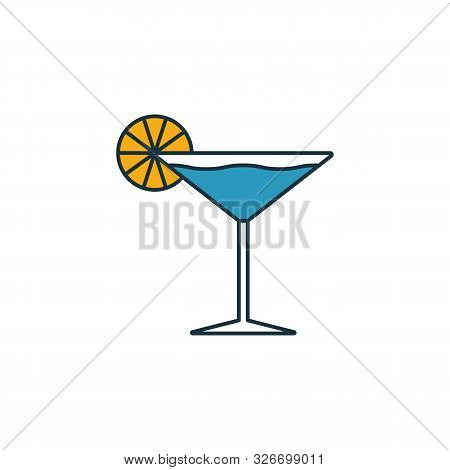 Martini Glass Icon. Outline Filled Creative Elemet From Bar And Restaurant Icons Collection. Premium