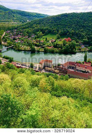 Landscape From Citadel Of Besancon With River Doubs Of Bourgogne