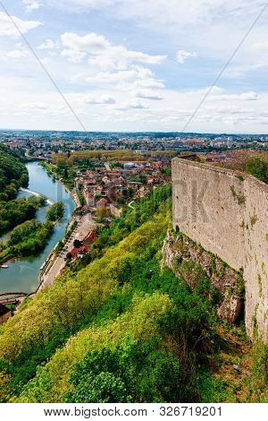 Citadel Of Besancon And River Doubs In Bourgogne