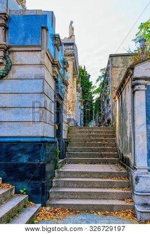 Monterosso Al Mare, Ligunia, Italy - September 21: Old Cemetery On September 21, 2019 In Monterosso