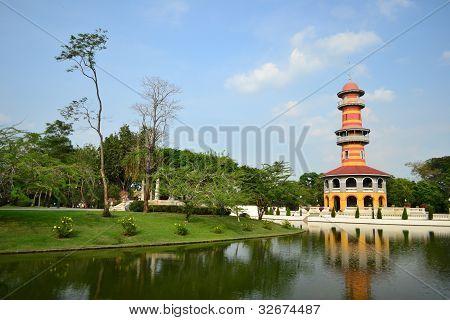 Bang Pa-In Palace in Ayutthaya ProvinceThailand . poster