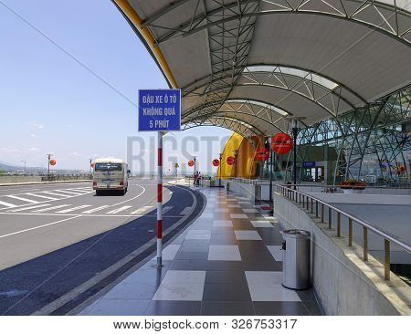Dalat, Vietnam - Apr 20, 2018. Interior Of Lien Khuong Airport In Dalat, Vietnam. Dalat Is Located I