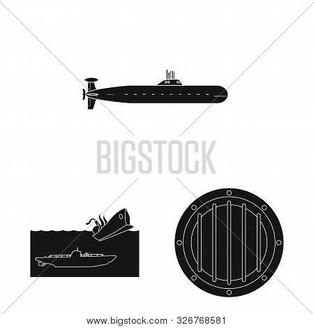 Vector Design Of Technology And Fleet Sign. Collection Of Technology And Navy Vector Icon For Stock.
