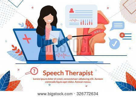 Speech Therapist Consultation, Didactic Aids Treatment Specialist, Psychological Help Online Banner.