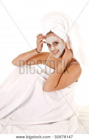 Towel On Head Mask