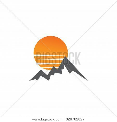 Mountain Graphic Design Template Vector Isolated Illustration