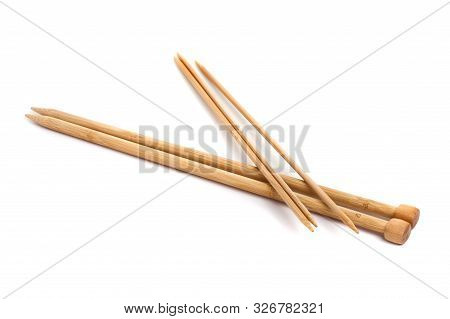 Isolated Knitting Needles