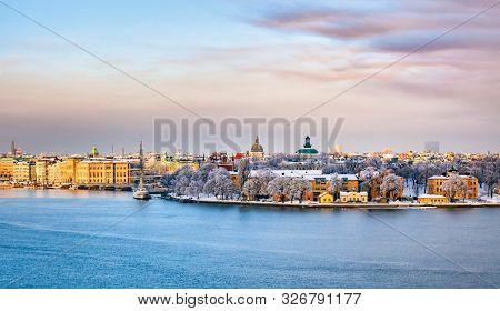 Central Stockholm, Skeppsholmen a cold winter day