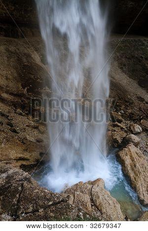 Waterfall Pericnik closeup