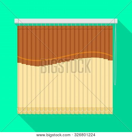 Vector Illustration Of Blinds And Casement Logo. Graphic Of Blinds And Room Stock Vector Illustratio
