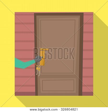 Isolated Object Of Burglar And Door Symbol. Collection Of Burglar And House Stock Vector Illustratio