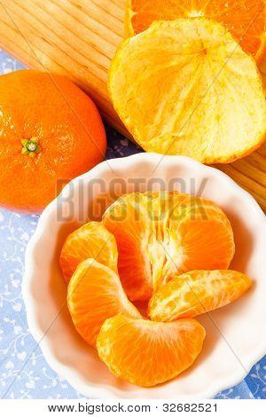 Fresh Juicy Mandarin Orange Sections