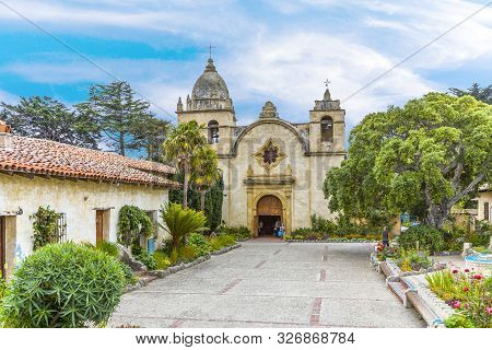 Carmel, Usa - July 27, 2008: Carmel Mission In Carmel, Usa. The Mission Was Founded In 1770 By Fr. J