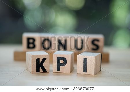 Letter Block In Word Kpi With Letter Block In Bonus. (abbreviation Of Key Performance Indicator) Kpi