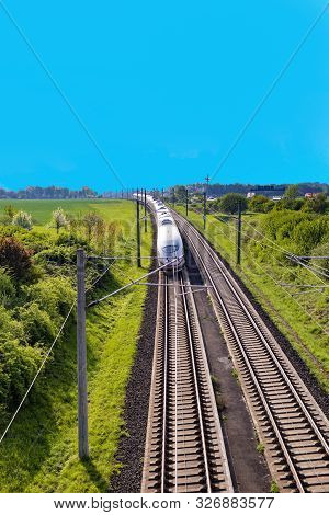 German High Speed Train Ice With Speed