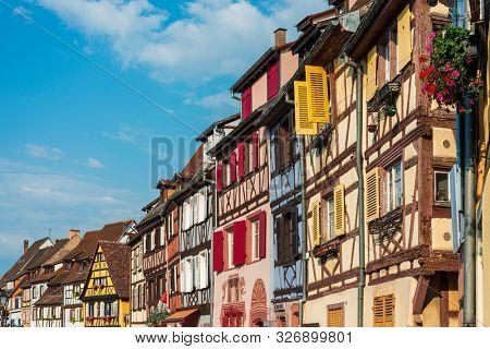 STRASBOURG, FRANCE - June 17, 2017 : Antique building view in Old Town Strasbourg, France