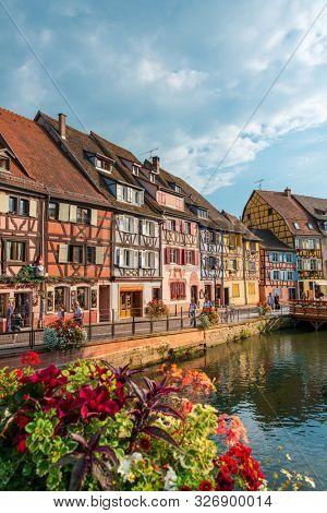 STRASBOURG, FRANCE - June 17, 2017 : Street view of Traditional houses in La Petite France, Strasbourg, Alsace, France