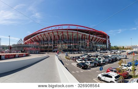 October 6th, 2019, Lisbon, Portugal - The Stadium Of Sport Lisboa And Benfica, Also Known As Estadio
