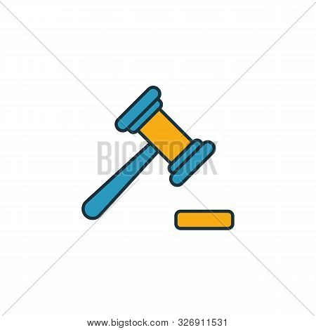 Magistrate Icon. Outline Filled Creative Elemet From Business Icons Collection. Premium Magistrate I
