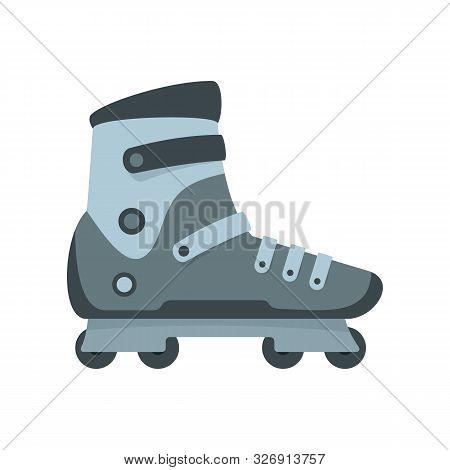 Extreme Sport Inline Skates Icon. Flat Illustration Of Extreme Sport Inline Skates Vector Icon For W