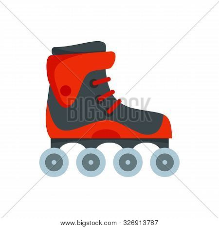 Freestyle Inline Skates Icon. Flat Illustration Of Freestyle Inline Skates Vector Icon For Web Desig