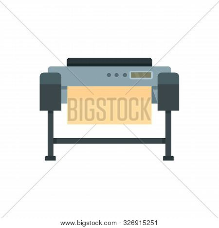 Printer Plotter Icon. Flat Illustration Of Printer Plotter Vector Icon For Web Design