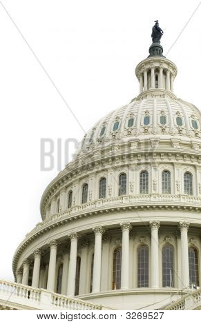 Dome Of Us Capitol Over White