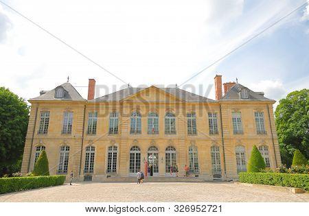 Paris France - May 22, 2019: Unidentified People Visit Rodin Museum Paris France